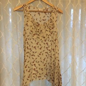 Charming Charlie bird print tank top